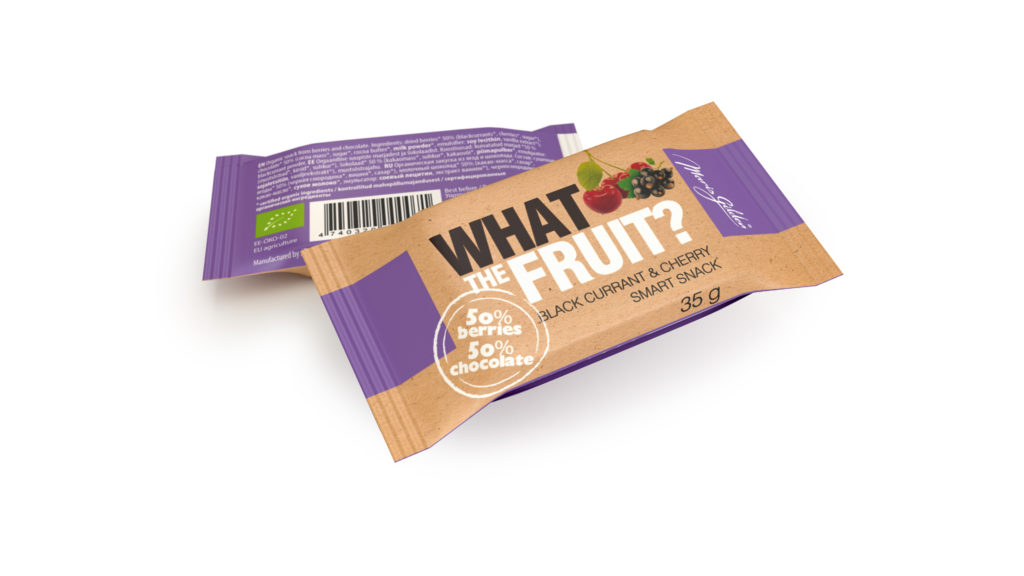 What The Fruit, mustsõstra-kirsi 35g BIO